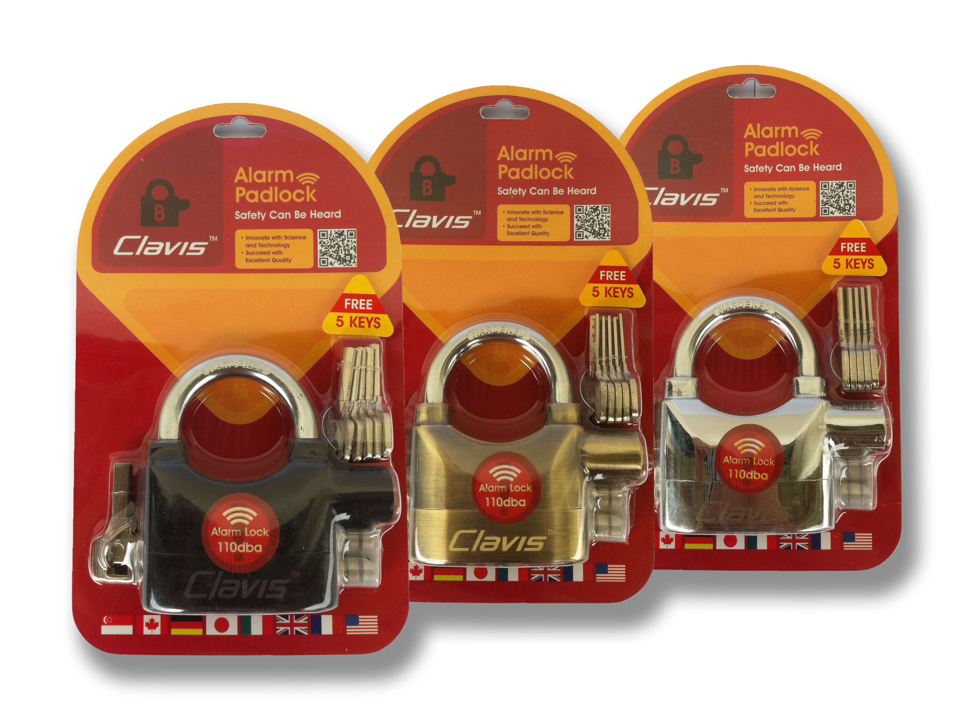 Clavis Alarm Locks worth ($69 90 each) from selffix